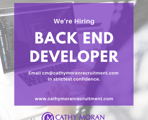 back end developer job belfast