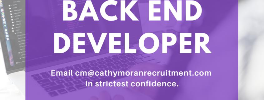 back end developer job belfast