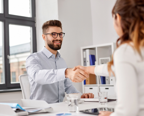 Interviewee finding a new job